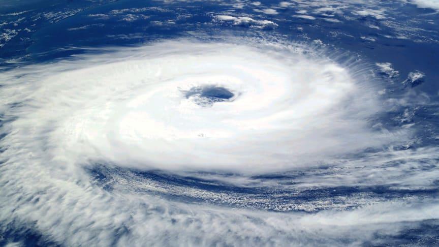 Cyklonen Catarina från rymdstationen ISS. Foto: Earth Observations Laboratory, Johnson Space Center, via Wikimedia Commons.