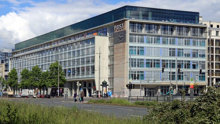 """Blick auf das Gebäude der Alten Hauptpost, das jetzt das Multi-Nutzungsobjekt """"Felix im Lebendigen Haus"""" beheimatet - Foto: Andreas Schmidt"""