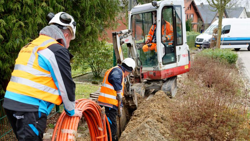 Schon bald beginnen die Bautrupps in Havixbeck mit dem Verlegen der Glasfaserkabel.