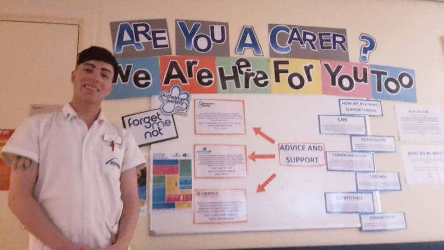 Northumbria student nurse Gary Hall, who has been shortlisted for a Student Nursing Times award