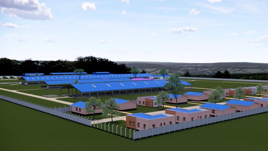 3D Animation des landwirtschaftlichen Arla Milchbetriebs in Nigeria; geplante Eröffnung 2022