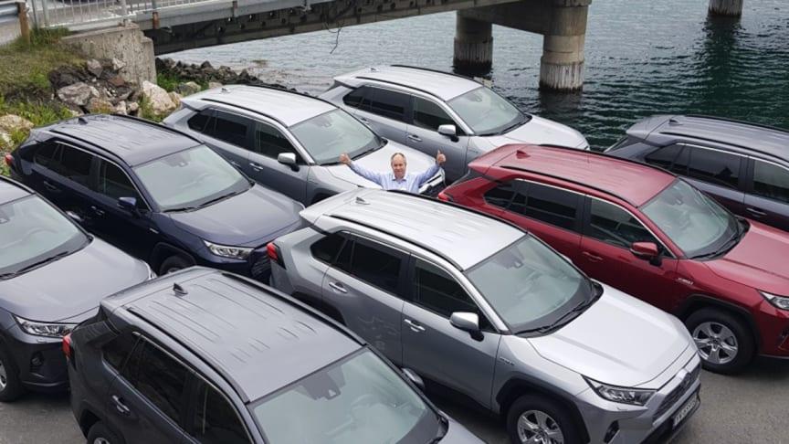 Toyota på topp: Oddgeir Nergaard, daglig leder i Nordvik Narvik. Foto: Nordvik AS. Høyoppløselig bilde i bunnen av artikkel.