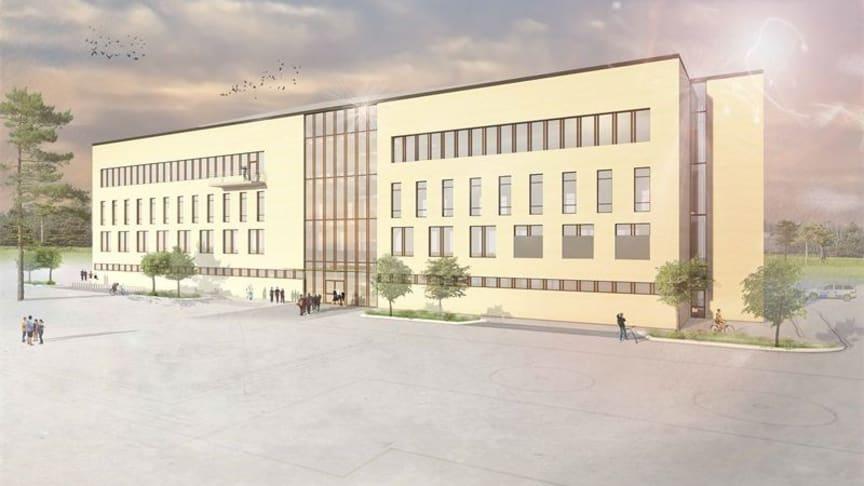 Ritning av polishögskolan i Umeå