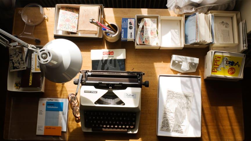 Delar av Astrid Lindgrens arkiv, som finns på KB och som utsetts till världsminne av Unesco.