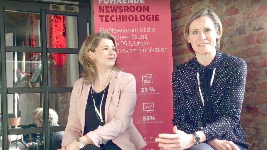 Anja Pottmeier (Referentin für Unternehmenskommunikation) und Kristina Biermann (Social Media Managerin) von der Sparkasse Neuss im Interview