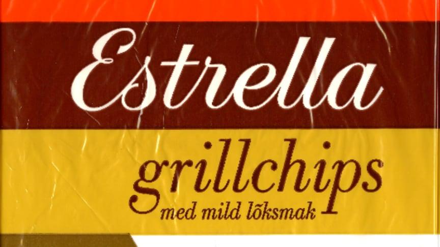 Estrella Grillchips design från lanseringsåret 1967