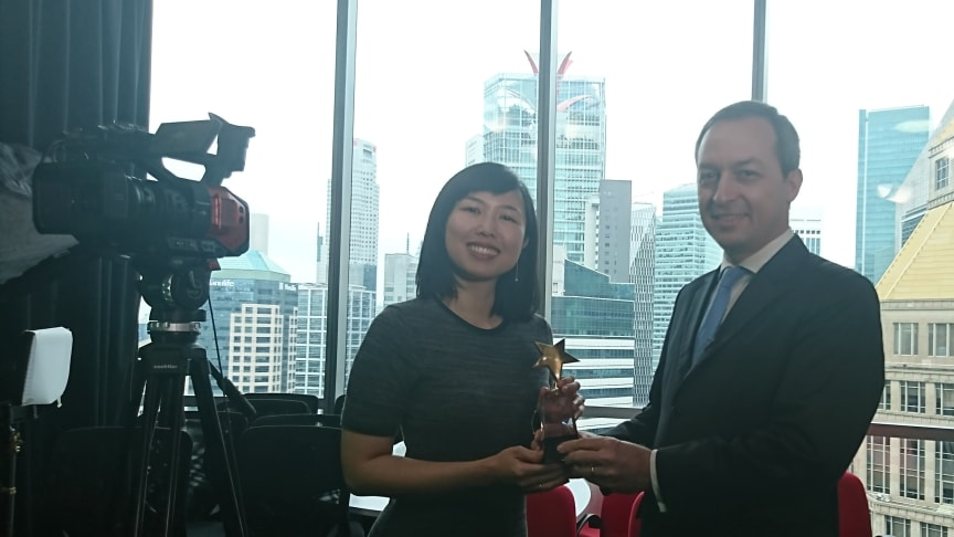 Isabel Kum wins the Best Conference Presentation category in the Hong Bao Media Savvy Awards 2018, for her TEDx talk at the PSB Academy.