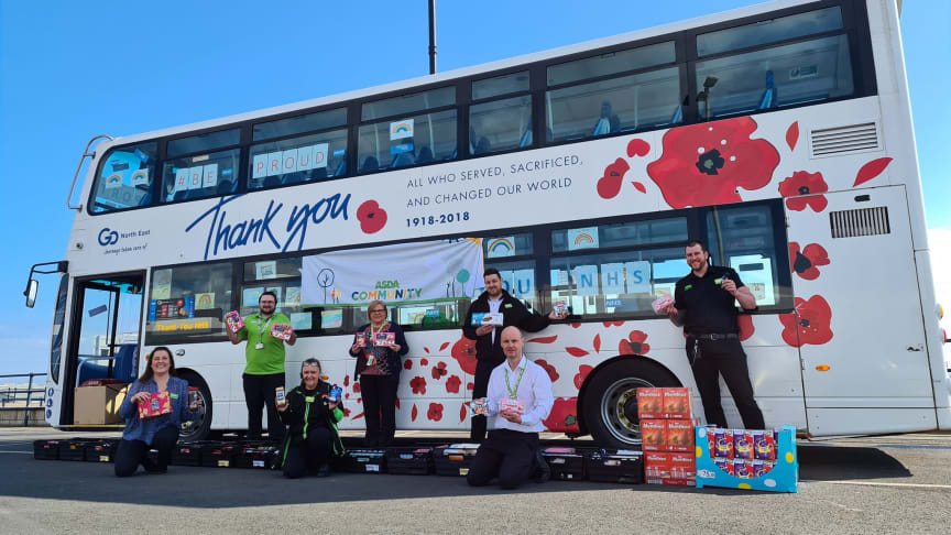 Go North East has been working with the local Asda community team to make the most of donations