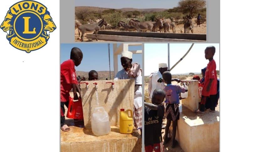 Friskt och rent vatten till både djur och befolkning.