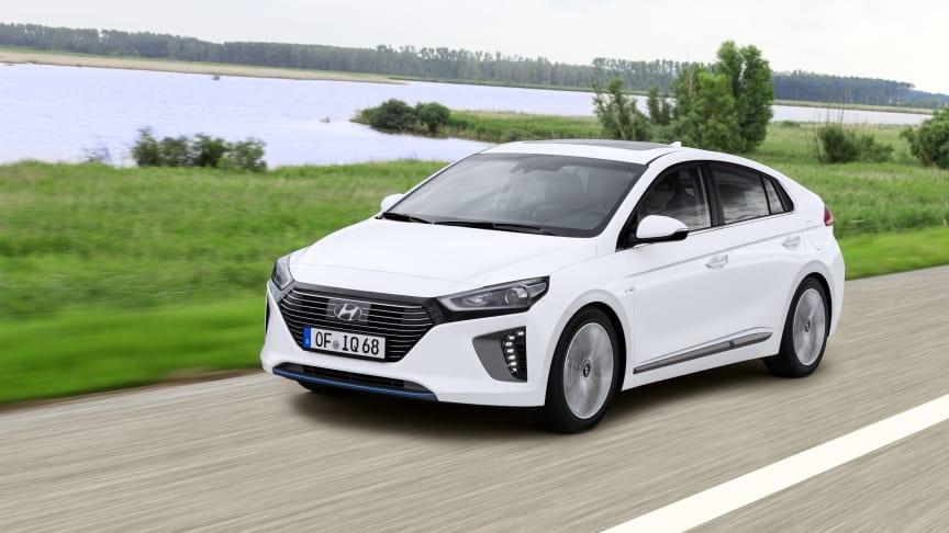 Årets bil 2017 i Norge, Hyundai IONIQ har fått fem stjerner i Euro NCAP sikkerhetstest