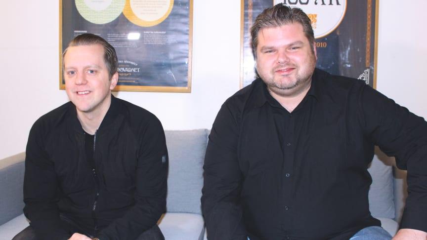 Olle Eriksson och Jonas Klinteberg, projektledare för Skyddsvärnets nya projekt, Ung inlåst