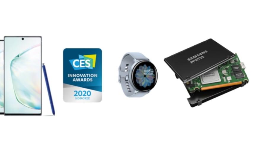 Samsung vinner 46 CES 2020 Innovation Awards för enastående design och teknik