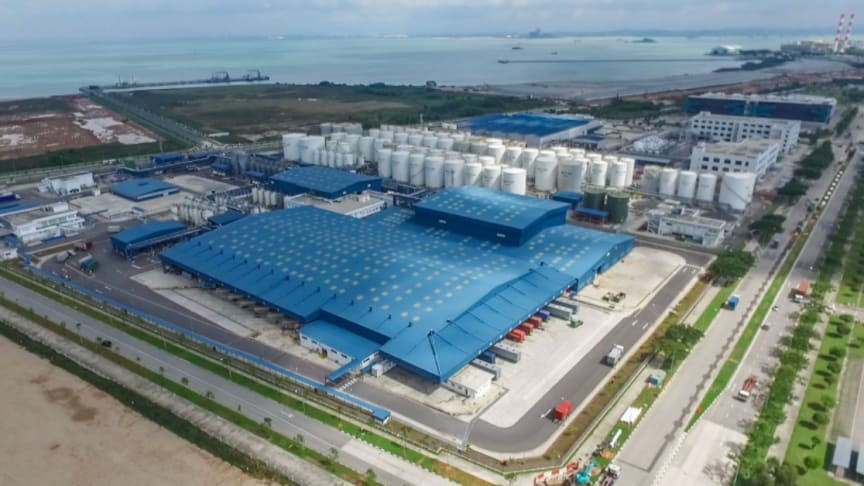 The new Shell Tuas lubricants plant in Singapore. (Photo by Shell)