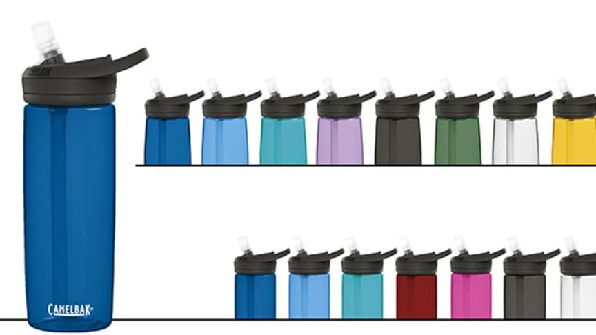 Työmatkalle, urheiluun sekä retkeilyyn soveltuvan juomapullon vaatimuksiin kuuluvat keveys ja kestävyys sekä helppo kuljetettavuus ja puhdistettavuus. Nämä ominaisuudet yhdistyvät CamelBak® Eddy®+ -juomapullon tiiviin suukappaleen kanssa.