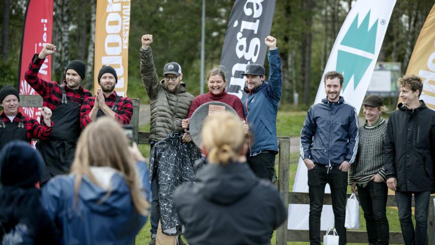 Laget Skärselden från Falkenberg vann finalen av SM i utomhusmatlagning 2019 på Billingen Skövde. Foto: Tobias Andersson/Next Skövde