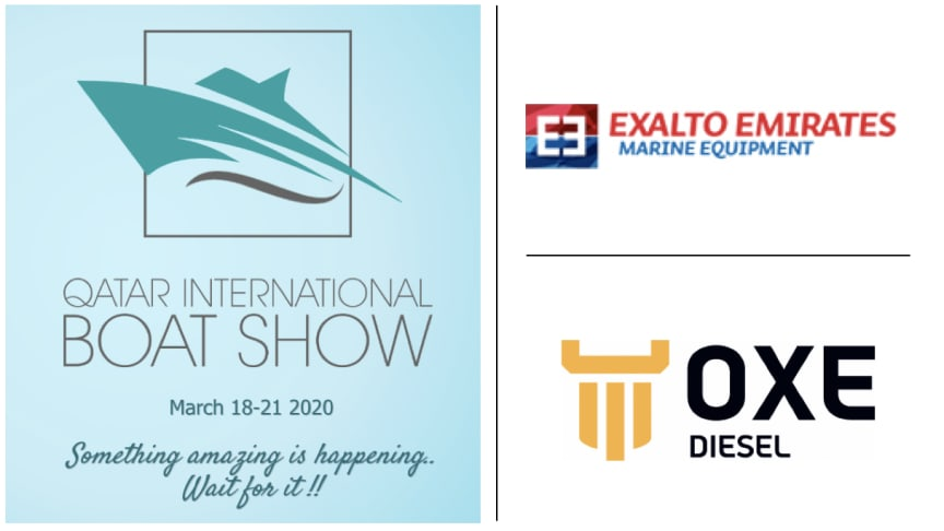 OXE Diesel displayed at Qatar Boat Show by Exalto Emirates, 18 - 21 March