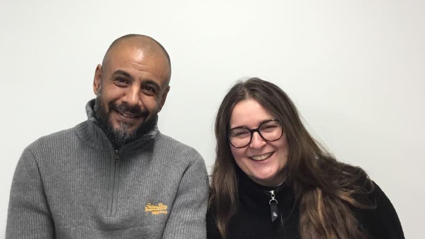Prosjektmedarbeider Thamer al-Genaee og prosjektleder Hilde Petrine Henriksen