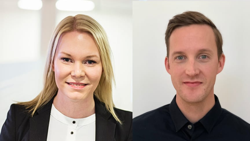 Anna Rosén, affärsutvecklare, och Tommy Lampa, säljledare, inom Riksbyggens affärsområde Fastighetsförvaltning