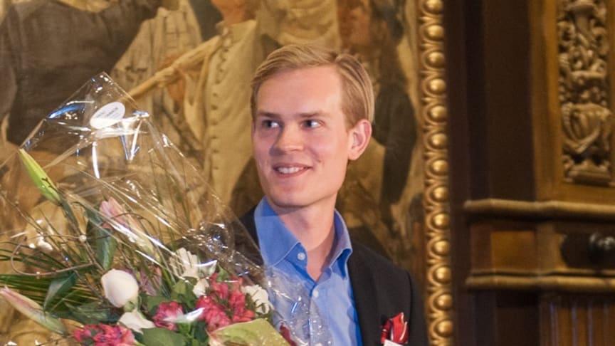 TopVisibles grundare Jacob Lönroth vann utmärkelsen Årets Unga Entreprenör Syd