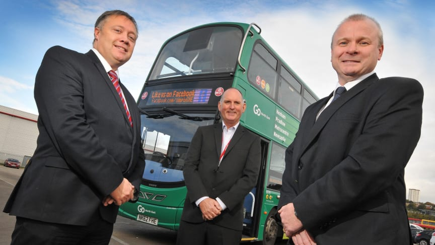 L-R Steve McColl from JobCentrePlus, Keith Robertson from Go North East and Ivan Jepson from Gateshead College