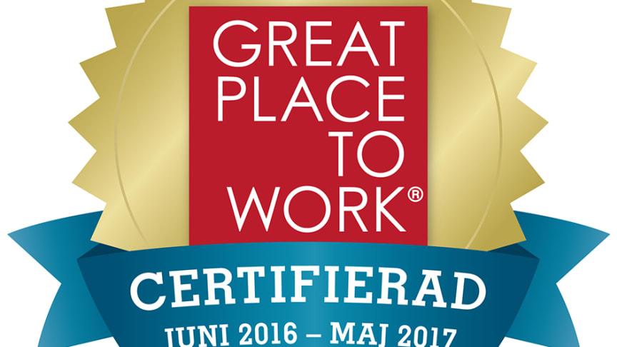 RO-Gruppen först i Sverige att certifieras som ett Great Place to Work