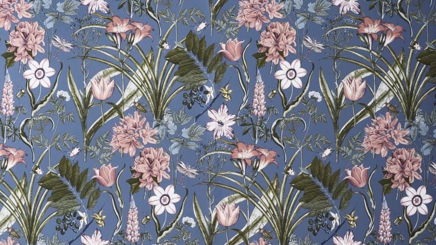 Blått setter stilen på vårens tapeter