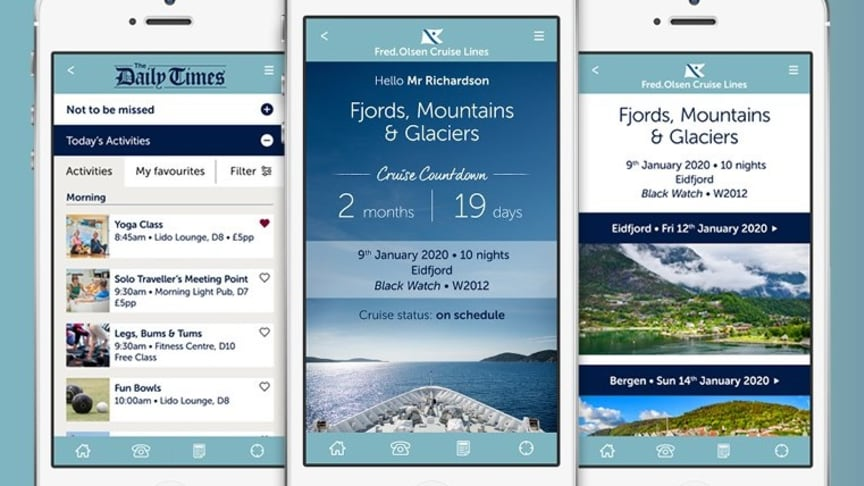 Fred. Olsen Cruise Lines launches new app to enhance guest experience