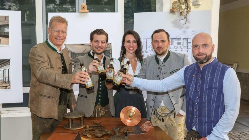 Andreas Steinfatt, Constantino Medde, Nadja van Mark, Mitja Lafere und Sebastian Erlenmaier