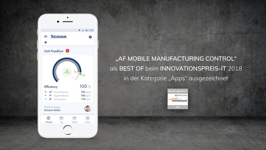 Innovationspreis-IT 2018: APPSfactory mit Industrie 4.0 Lösung als BEST OF in der Kategorie Apps auszeichnet