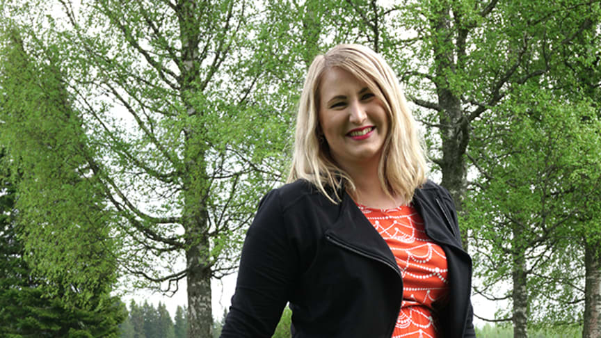 It is a pleasure to represent a high-quality product, says Netta Kettunen, Salli's Expo Manager.