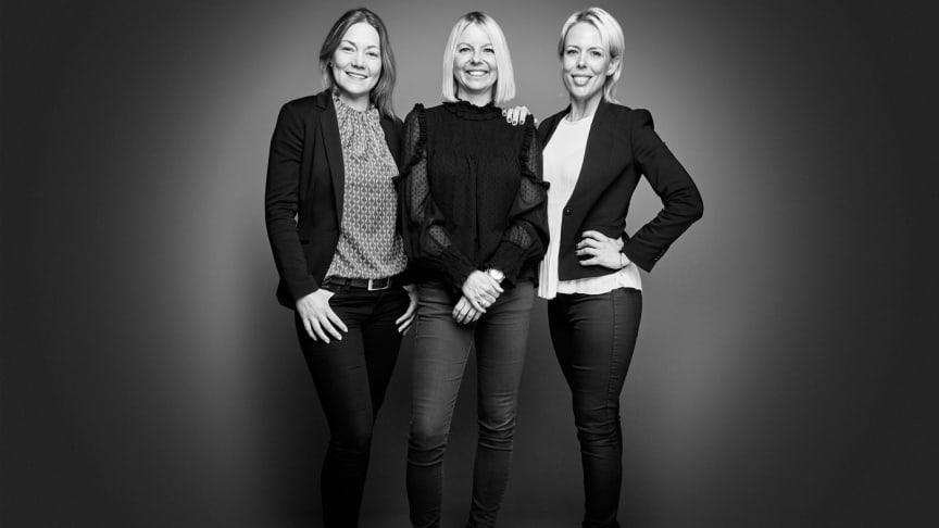 På Bjurfors Ystad träffar du till en början (från vänster till höger): Louise Järvstedt, Petra Roxenius och Alexandra Nilsson.