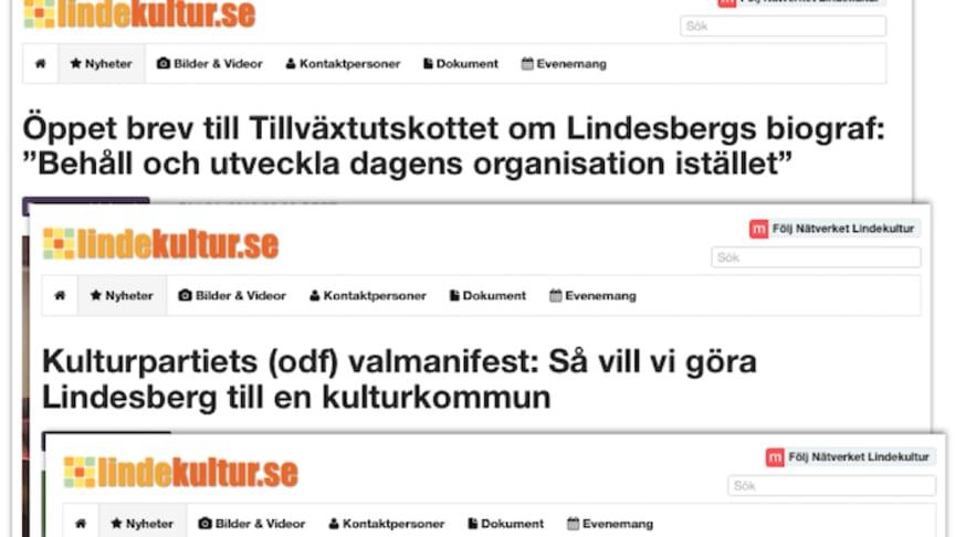 Bilden: Tre av de mest lästa nyheterna på lindekultur.se under 2018.