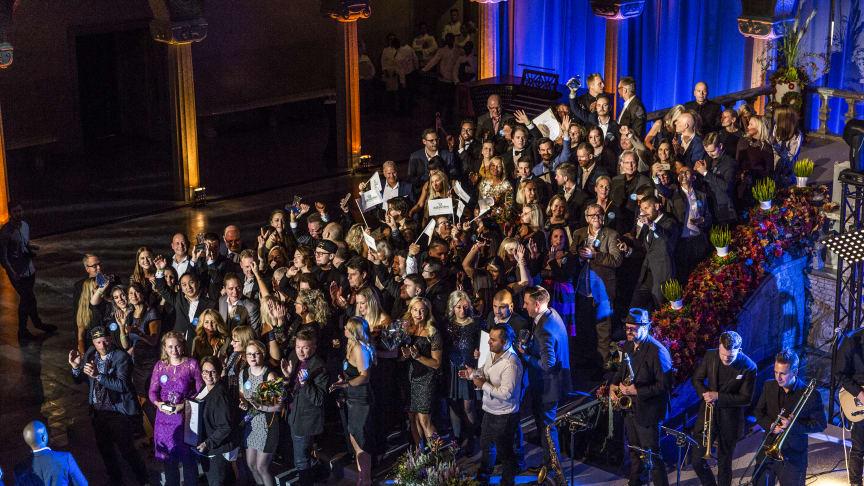Vinnarna på Dagligvarugalan 2017 firade segern i Stokholms stadshus