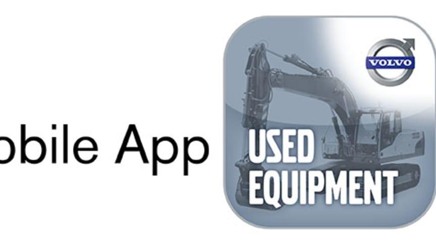 Volvo Construction Equipment lanserar app för begagnade maskiner