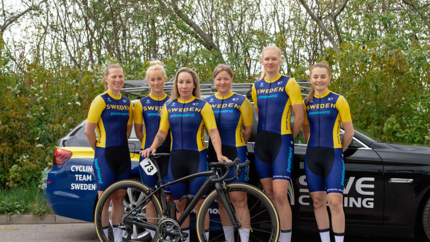 Svenska damlandslaget med Sara Mustonen som totalsegrare i Tour of Uppsala