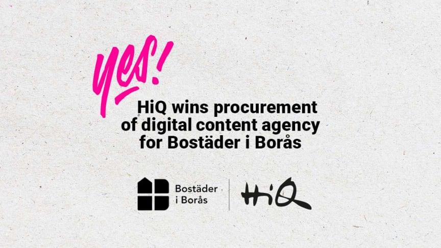HiQ vinner Bostäder i Borås upphandling av digital innehållsmarknadsföringsbyrå.