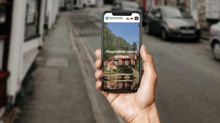 Swerandas nya mobilanpassade webbplats, skapad av reklambyrån Bacill.
