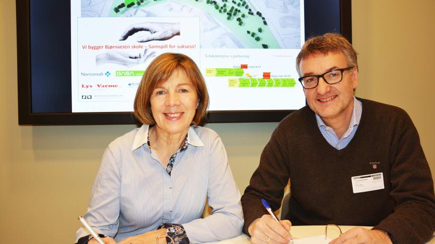 Kontrakt på 317 millioner signert for Bjørnveien skole