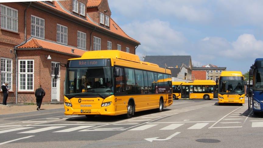 Scania Citywide LE biogas fra Umove kører i Sønderborg
