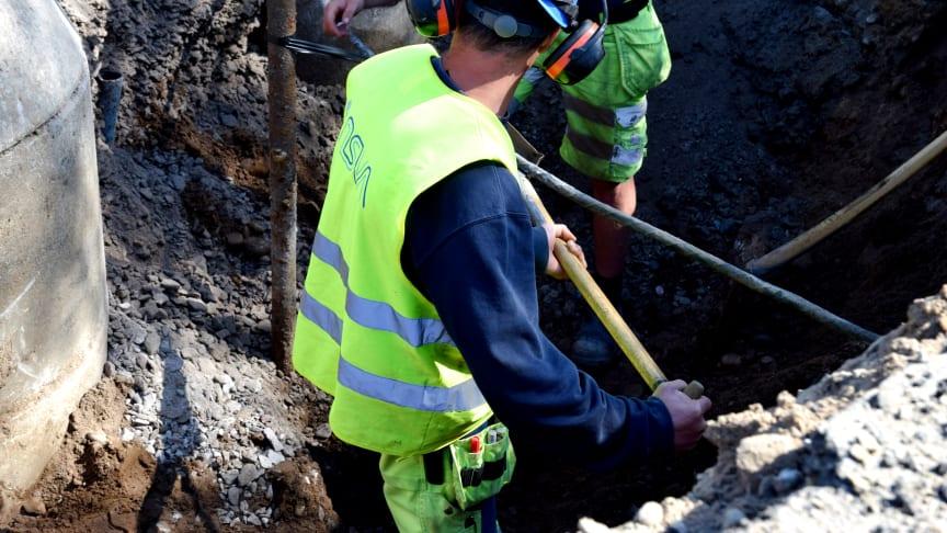 VA-arbete vid korsningen Brunnbäcksgatan/Rusthållsgatan (Helsingborg) påverkar farligt gods väg och trafik