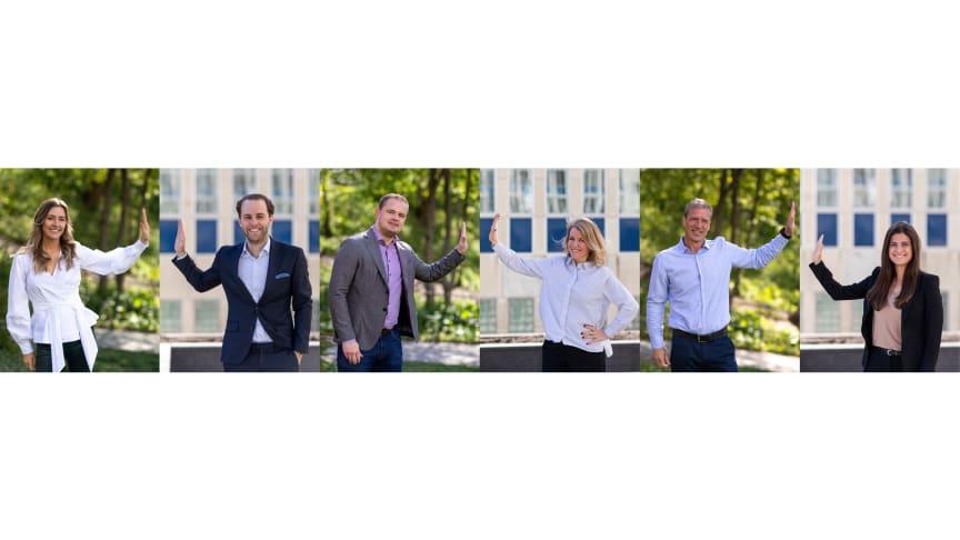 Sigma Young Talent och Folksam fortsätter samarbeta, i bilden från vänster; Malin Wester, Daniel Gyllensparre, Jacob Karmehag, Jenny Thalin, Johan Rudén och Sofie Lundh.