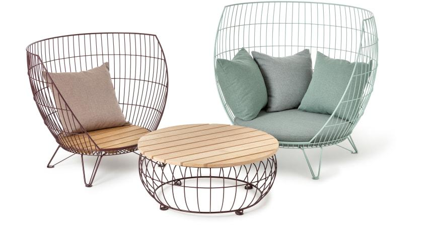 Basket furniture group, design Ola Gillgren.