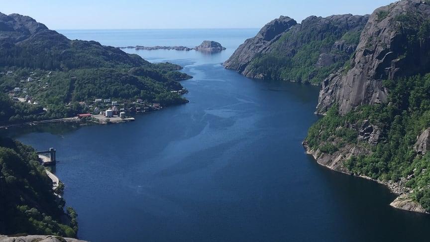 Jøssingfjorden i Sokndal kommune. (Foto: Wikimedia Commons)
