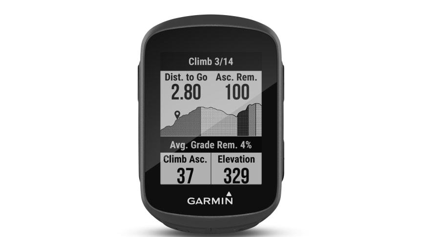 Der neue Edge 130 Plus warnt dank Climb Pro-Funktion vor bevorstehenden Anstiegen.