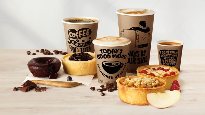 MAX nya kaffe serveras i nya muggar och nya desserter