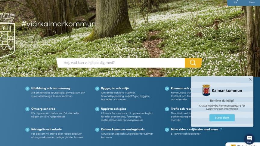 Kalmar kommun erbjuder nu sina kommuninvånare att digitalt kommunicera med experter via chatt på kalmar.se