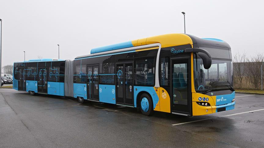 MAN Lion's City GL CNG. 18,7 meter ledbus med plads til 147 passagerer (heraf 37 siddende)