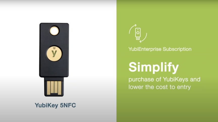 Yubico Expands YubiEnterprise Subscription Services, Simplifying YubiKey Procurement for Enterprises Around the World