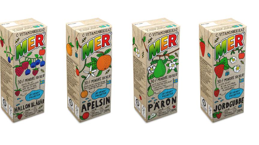 Klassiska MER® med sugrör tar en ny skepnad i utseende och recept