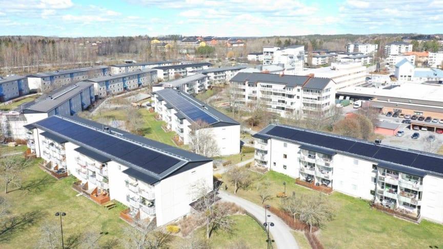 HSB bygger Stockholms läns största solcellsanläggning i Järfälla